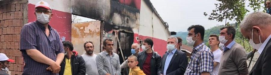 Milletvekili Çelik'ten yangınzedelere geçmiş olsun ziyareti